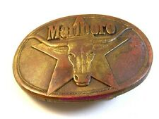 1987 Brass Cowboy Rodeo Western Marlboro Steer Belt Buckle by Philip Morris Inc