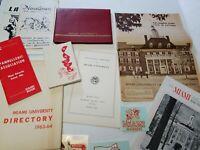 1960's Miami University Ohio Oxford Vintage College Memorabilia Lot