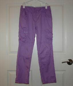 Girl's Hanna Andersson Purple Cotton Lightweight Cargo Pants Size 150 / 12-13
