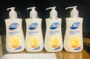 Dial Vanilla Honey Moisturizing Hand Soap 7.5 Fl oz Healthy Skin. Lot of 4. A+