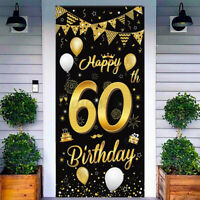 40./50./60. Geburtstag Tür Banner Flagge Party Dekor Happy Birthday Girlande