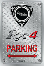 Metal Parking Sign  Rotary Mazda Style RX4 #03 - Checkerplate Look
