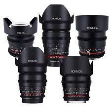 Rokinon Cine DS Full Cine Lens Kit f/ Canon EF- 50mm + 35mm + 24mm + 85mm + 14mm