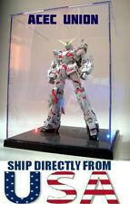 Model Display Box For Gundam MG HG BB Figures With LED Lights U.S.A. SELLER