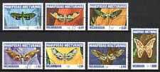 Papillons Nicaragua (13) série complète de 7 timbres oblitérés