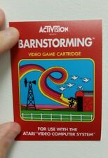 Barnstorming Atari 2600 Box sticker. 4.25 x 3.(Buy 3 stickers, GET ONE FREE!)