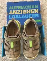 RICHTER Jungen Sportschuh NUBUK geprägt  Gr. 25 Schuh sand Klettverschluß OVP