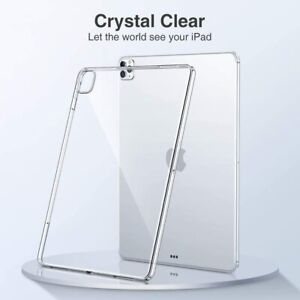 Apple iPad 5th 6th 7th 8th Generation Case Cover Transparent Clear Silicone