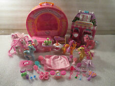 LOT My Little Pony Twinkle Twirls Dance Studio Cotton Candy Cafe Ponies Playset