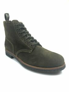 NIB POLO RALPH LAUREN HUNT GREEN SUEDE LEATHER ANKLE HIKING ARMY BOOTS