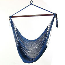 Caribbean Extra Large Hammock Chair for Indoor Outdoor Use in Blue