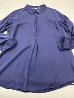 Soft Surroundings Large L Tencel Pullover Long Sleeve Tunic Top Shirt