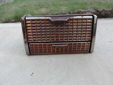 Vintage Iridescent Lustre Enamel Fireplace Grate Pan Cover Rare Design Art Dec