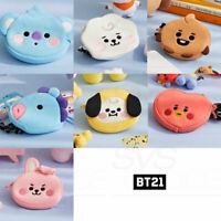 BTS BT21 Official Authentic Goods Neck Strap Mini Pouch Baby Ver + Tracking Num