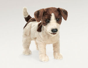 NEW PLUSH SOFT TOY Folkmanis 2848 Jack Russell Terrier Dog Hand Puppet