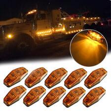 Amber 2 LED Sealed Side Marker Clearance Light Flush Mount Truck Trailer Qty 10