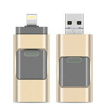 Micro Drive Portable 3 in 1 Flash Pendrive USB 2.0 Lightning For Laptop iPhone