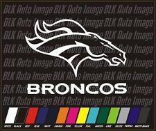 """Denver Bronco NFL Football Vinyl Auto Car Stickers Decals 4"""""""