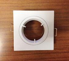 SQUARE WHITE DIECAST Recessed downlight ceiling spotlight  GU10 Halogen or LED