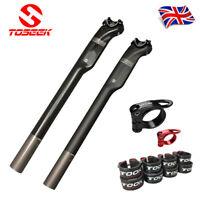 "TOSEEK T800 Carbon Fiber 27.2//30.8//31.6/"" Seatpost Clamp Carbon//Aluminum Alloy UK"
