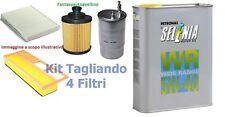 KIT TAGLIANDO FIAT G. PUNTO 1.3 MJ   FILTRI + OLIO SELENIA WR 5W40 4LT  90CV