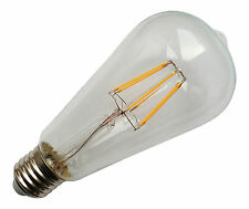 6 x E27 ES 240V 6.5W 800LM WARM WHITE LED FILAMENT RETRO DESIGN BULBS ~80W