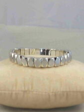 Fossil Brand Silvertone Faceted Geometric Bead Stretch Bracelet JAO00162 $48