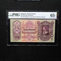 1930 Hungary  100 Pengo, Pick # 98, PMG 65 EPQ Gem Unc.