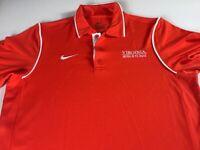 Virginia Wrestling Polo Shirt Mens SZ S/M Nike Dri-Fit Cavaliers Team Issued UVA