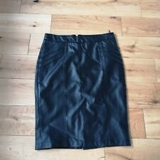Dunnes Faux Leather Pencil Skirt Size 14