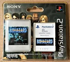 PS2 BioHazard Outbreak (resident evil) Carte Mémoire 8 Mo, NEW & FACTORY SEALED