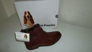 HUSH PUPPIES Leder Boots/Stiefeletten Gr. 41 Rotbraun Echtleder