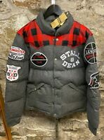 Stall & Dean Wool Jacket Yoke Men's Vintage Collegiate Football Hockey M - L- XL