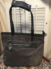MICHAEL KORS KEMPTON Gray Black Nylon Tote Handbag Medium