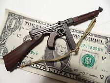 Miniature TOY 1/6 scale WW2 era Thompson sub machine gun PLASTIC Tommy gun