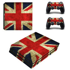 Sony PlayStation 4 PRO (PS4 PRO) Union Jack - Vinyl Skin Sticker Set-UK Seller