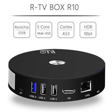 R10 Quad Core 4G 64G Android 7.1 TV Media Box 4K HDR10 VP9 2.4G 5G WiFi USB 3.0
