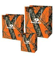 MOSSY OAK CAMOUFLAGE GIFT BAG BIRTHDAY ANNIVERSARY WEDDING PARTY WRAP 3pc S M L