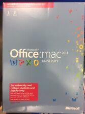 Microsoft ~ Office: Mac 2011 ~ University ~ W6L-00001