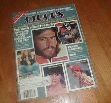 CIRCUS MAGAZINE 9/28/78 THIN LIZZY Bee Gees KISS w RONSTADT JAGGER POSTER VG++