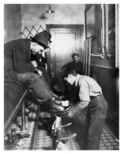 8x10 Silver Halide Photo Shoe Shine Parlor Boy At Work Indianapolis IN Americana