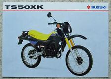 SUZUKI TS50XK Motorcycle Sales Specification Leaflet Dec 1997 #MB8TS50XK-LEAF