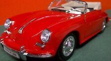 """356-B CABRIO PORSCHE Red Left Hand Drive 7+1/2"""" Details 356-B CABRIO Porsche 356"""