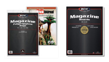 10 25 50 100 250 1000 BCW Brand Magazine Storage Bags Backing Boards Premade Lot