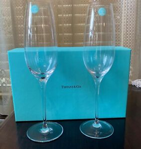 Tiffany & Co. Crystal Riedel Champagne/Wine Flute 6oz New In Box
