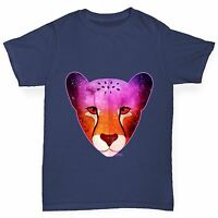 Twisted Envy Boy's Cosmic Cheetah Printed Cotton T-Shirt
