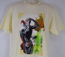 Batman Men's L Super Villianesses Harley Quinn, Poison Ivy & Catwoman T-Shirt