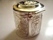 17g Sterling Silver Sewing Pin Thimble holder pill snuff box Edwardian style 3cm
