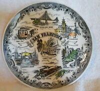 Vintage San Francisco Souvenir Plate