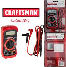 🔥NEW🔥 Craftsman Digital Multimeter Volt AC DC Tester Meter Voltmeter Ohmmeter